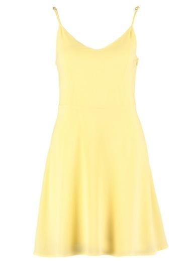 Morhipo Beach Sırt Bağlama Detaylı Elbise Sarı